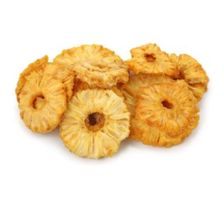 Dried pineapple isolated on white background