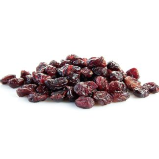 dry cranberries isolated on white background