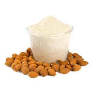 almond flour isolated on white