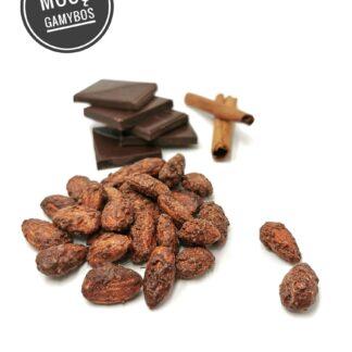 Karamelizuoti migdolai juodame šokolade