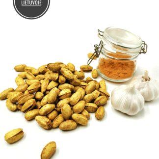 Skrudintos pistacijos su ciberžole ir česnaku